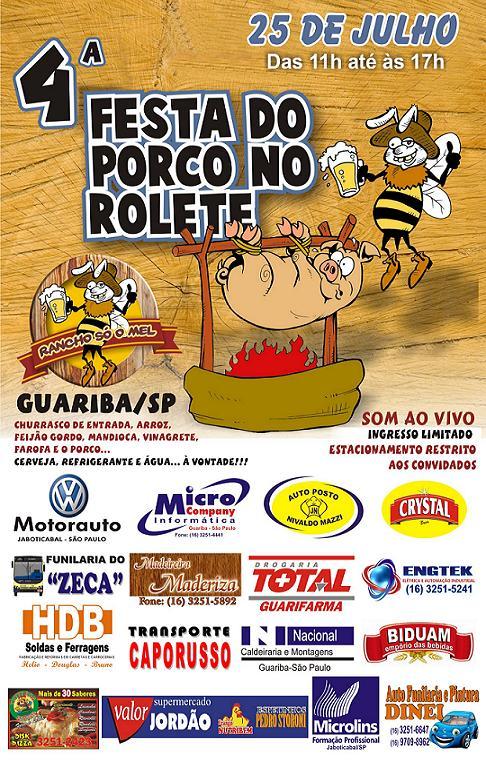 Cartaz Porco no Rolete - Grande